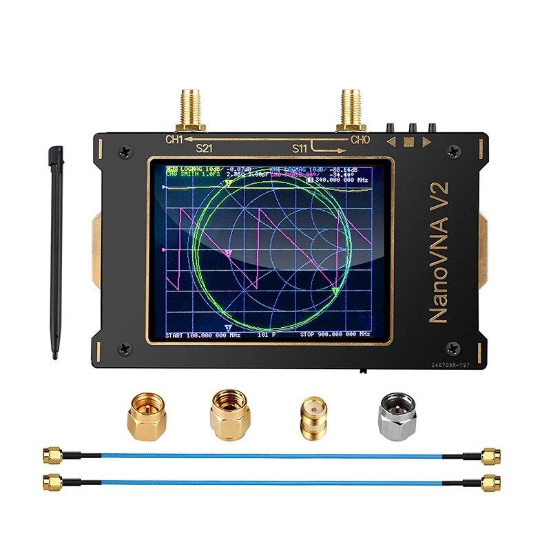 محلل شبكة ناقلات SAA-V2 10KHz-3GHz HF UHF هوائي محلل 3.2 بوصة الصحافة Sn مع غلاف معدني ، فلتر