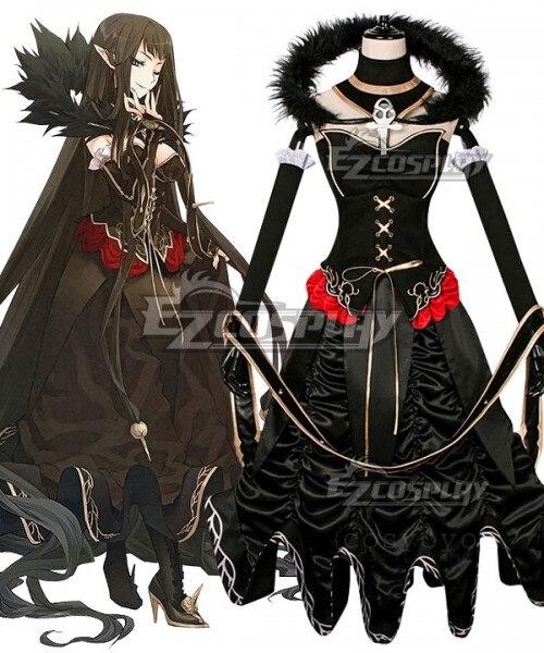 مصير الطلب الكبير مصير أبوكريفا Semiramis Ototsugu Konoe فستان أسود لعيد الميلاد هالوين البدلة تأثيري حلي E001