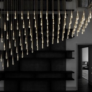 Modern Crystal Led Pendant Lights Nordic Kitchen Decoration Hanging Lamps Home Art Lamp Indoor Lighting Staircase Light Fixtures