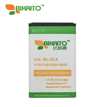 Nouvelle Batterie BL-5CA BL 5CA Pour Nokia 1112 1200 1208 3600 N70 N71 N72 1209 1100 3100 C2 6230i, 1100, 1101, 1110, 2600, 2610