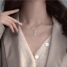 Élégant 925 en argent Sterling brillant Zircon étoile tour de cou argent Simple cadeau pour les filles collier femmes fête femelle Fine bijoux NK002