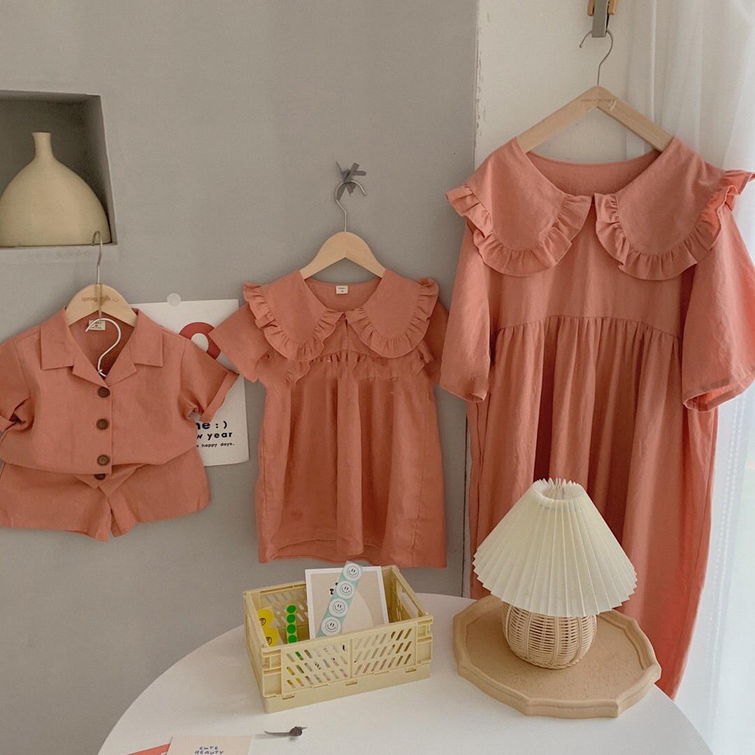 ملابس أطفال جديدة بلون سادة 2021 عالية الجودة