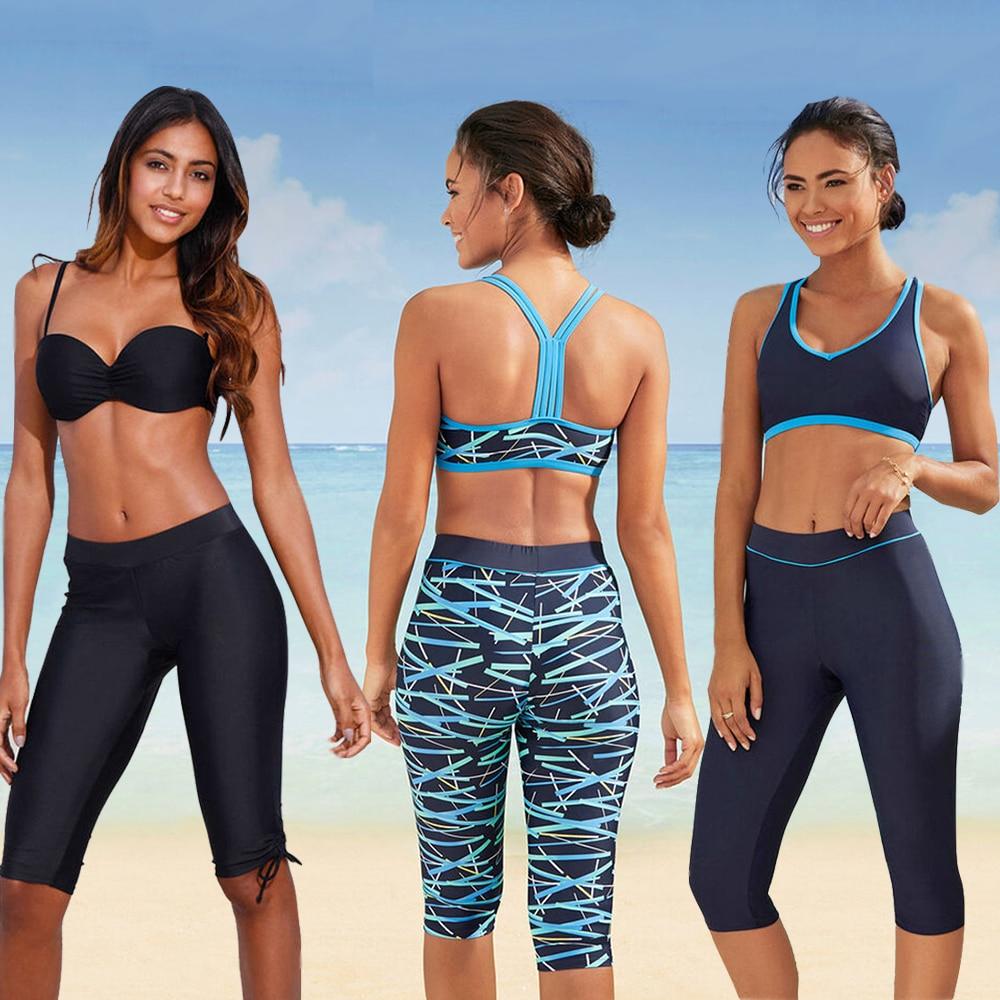LI-FI, novedad del 2020 en pantalones estampados, traje de baño de cintura alta, Bikini Sexy, traje de baño de mujer para las vacaciones de verano, traje de baño dividido en la playa
