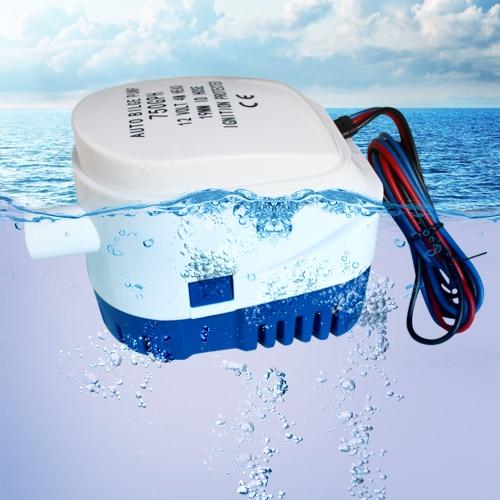 750GPH 1100GPH التلقائي قارب مضخة نزح 12 فولت 24 فولت تيار مستمر غاطسة مضخة مياه كهربائية صغيرة 12 فولت فولت 750 1100 gph السيارات