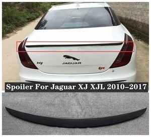 High quality ABS Resin & Carbon Fiber Rear Trunk Lip Spoiler Wing Fits For Jaguar XJ XJL 2010-2017