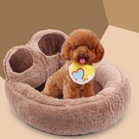 pet dog cat warm bed winter lovely dog bed soft material pet nest cute paw kennel for cat puppy sofa beds for dogs accessories