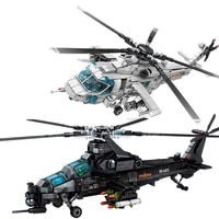 pop it military aircraft attack helicopter building blocks armed soldiers airplane model bricks kids toys for gifts legoinglys
