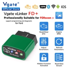 Vgate vLinker FD + ELM327 Bluetooth 4,0 для Ford FORScan wifi OBD2 автомобильный диагностический OBD 2 сканер J2534 автомобильный инструмент ELM 327 в 1 5
