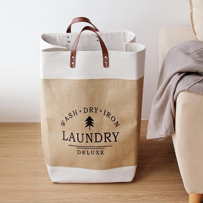 Waterproof Collapsible Laundry Basket Dirty Clothes Hamper Printed Foldable Storage Bin Sundries Sorter Basket