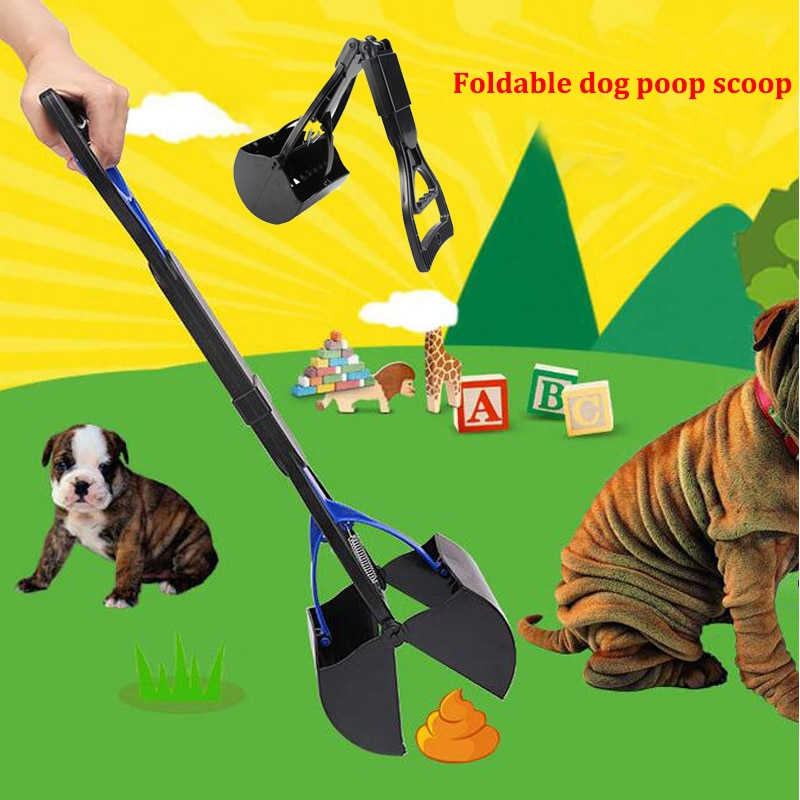 Складная Собака Pooper Scooper кошка туалет лопатка для чистки на открытом воздухе длинная ручка захват, совок для уборки собачьих экскрементов клипса для уборки домашнего туалета пикап