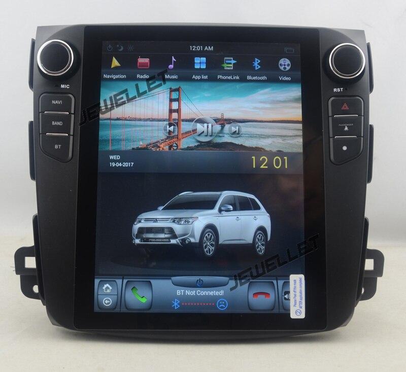 "Navegación vertical de 10,4 ""estilo Tesla de seis núcleos android 8,1 GPS para coche para Mitsubishi Outlander Citroen c-crosser Peugeot 4007"
