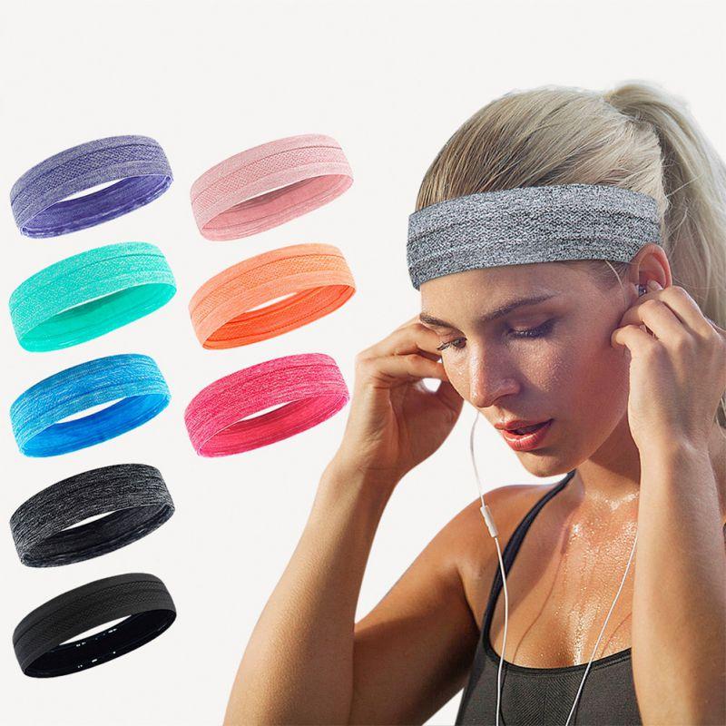 Diadema deportiva para correr, bandas antitranspirantes para el sudor, bandas para el cabello para Yoga, pañuelo deportivo para tenis *