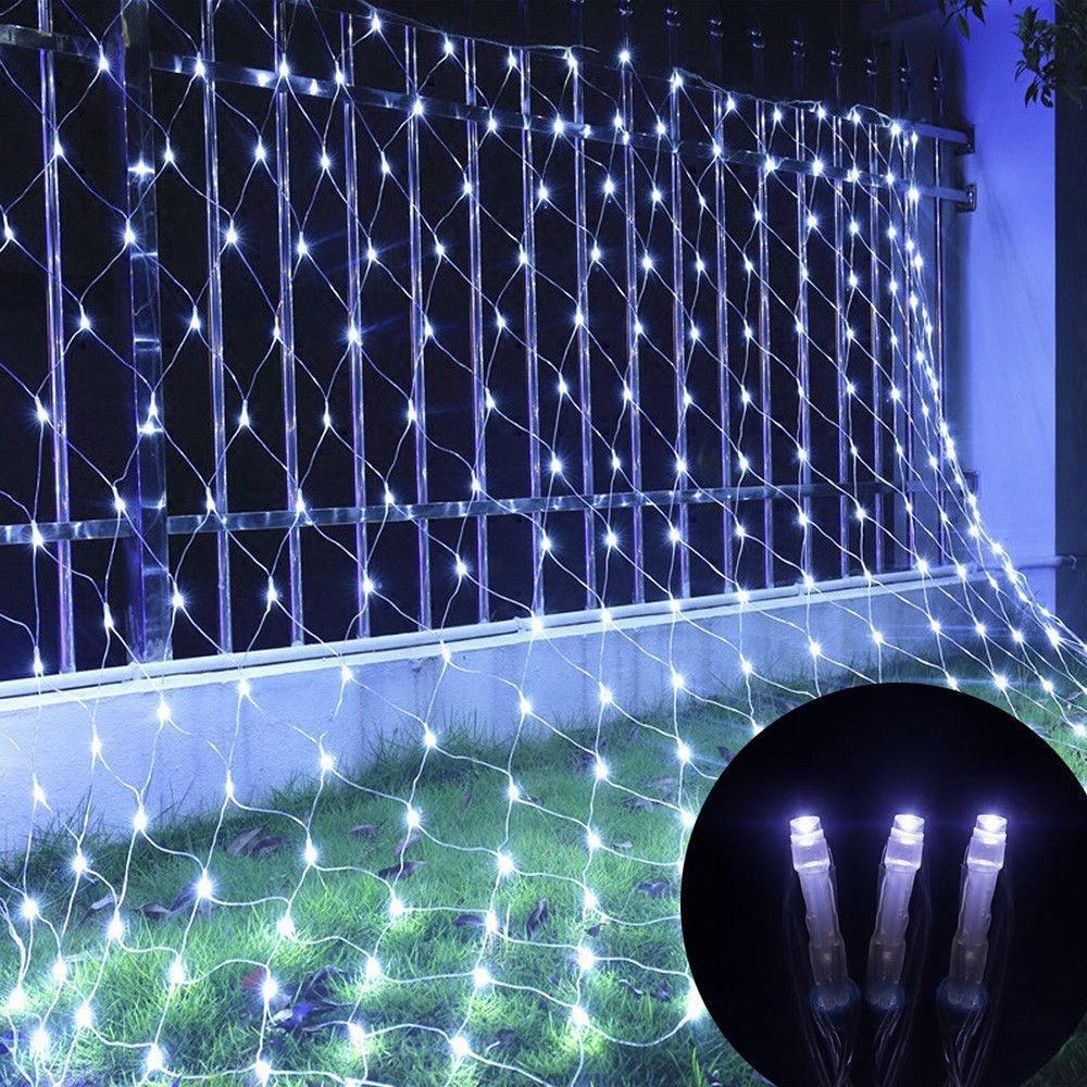6x4 3x2 guirnaldas de luces LED de luz de malla 96Led 192Led 672Led 8 modos Navidad boda fiesta al aire libre interior decoración del hogar