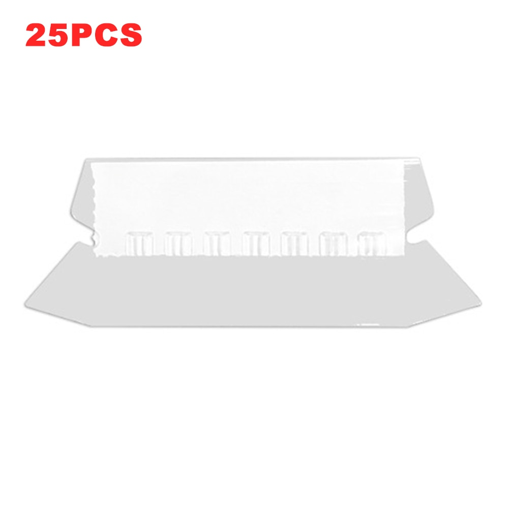 25pcs/box Hanging File Folder Tab Quick Identification Stationery Sorting Easy Install School Home Office White Insert Documents