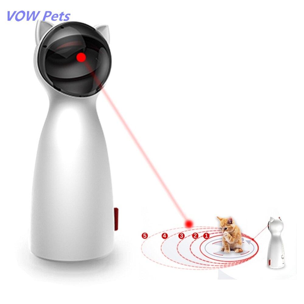 Animais de Estimação Animal de Estimação Eletrônico para Todos os Gatos Automático Gato Brinquedos Interativos Inteligente Provocação Led Laser Engraçado Modo Handheld Laserlampje Vow