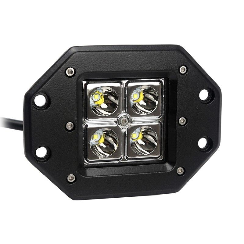 Luz Led para coche, foco Led de trabajo de 12W, DRL impermeable para todoterreno, SUV, UAZ, vehículo, camión, motocicleta