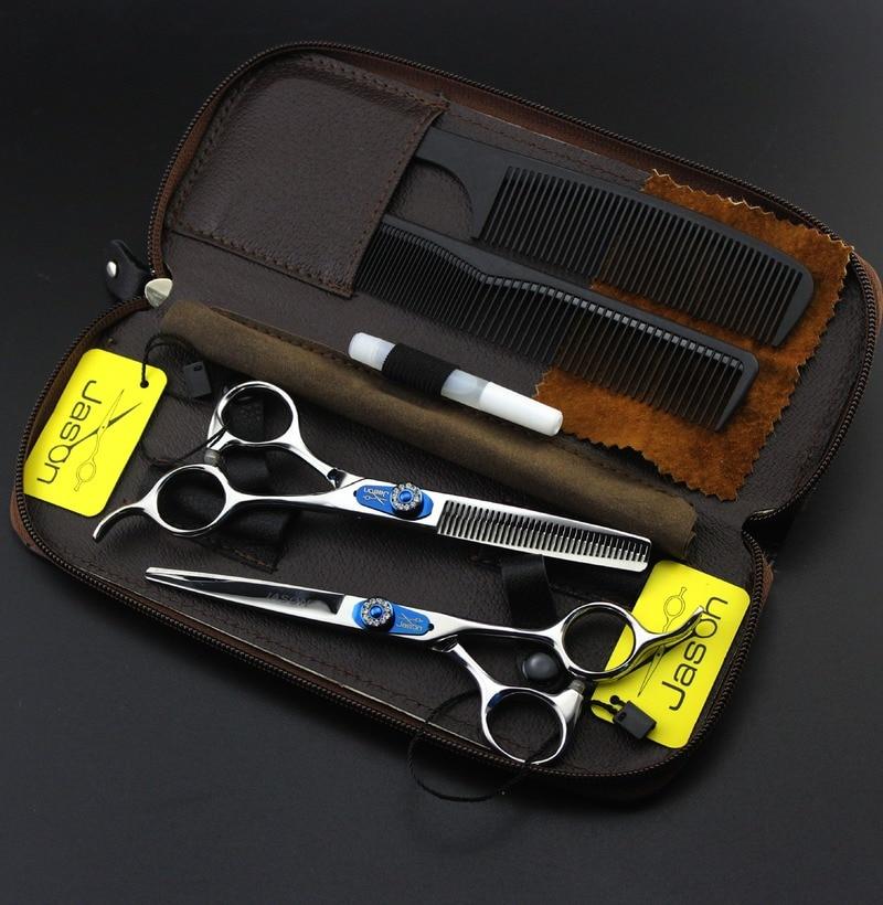 Профессиональные Парикмахерские ножницы 6 дюймов, парикмахерские ножницы для филировки, парикмахерские ножницы для резки 440C, японские стал...