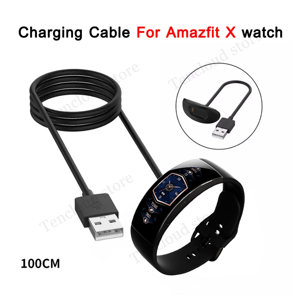 Replacement Magnetic USB Charging Cable For Amazfit X Smartwatch Global Version Charger For Huami Amazfit X Watch Accessories