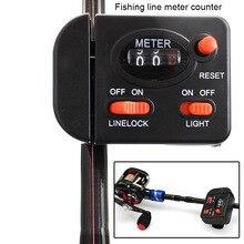 Mechanical Fishing Line Counter Plastic Clip On Digital Display Depth Finder Meter Gauges THJ99