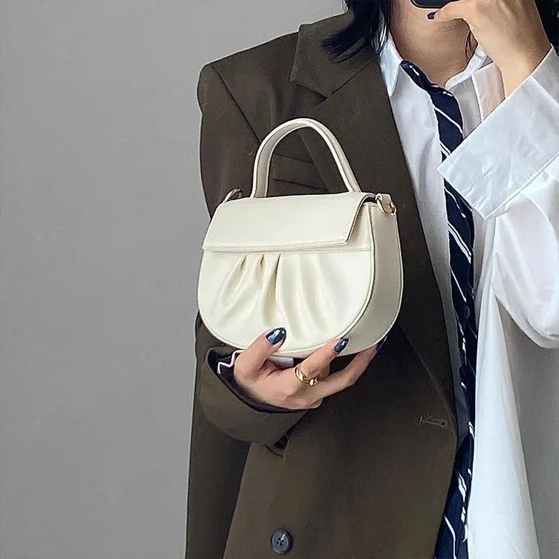 Vintage Fashion PU Leather Women Bag Shoulder Crossbody Bags 2021 NEW Women's Handbags Purses