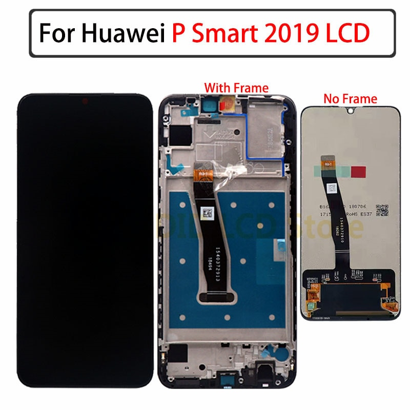 لهواوي P الذكية 2019 LCD POT-LX1 L21 شاشة عرض POT-LX3 LCD تعمل باللمس محول الأرقام الجمعية أجزاء P الذكية 2019 العرض