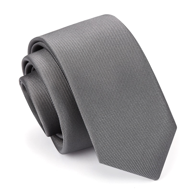 High Quality 2019 New Designers Brands Fashion Business Casual 6cm Slim Ties for Men Necktie Solid Color Work with Gift Box