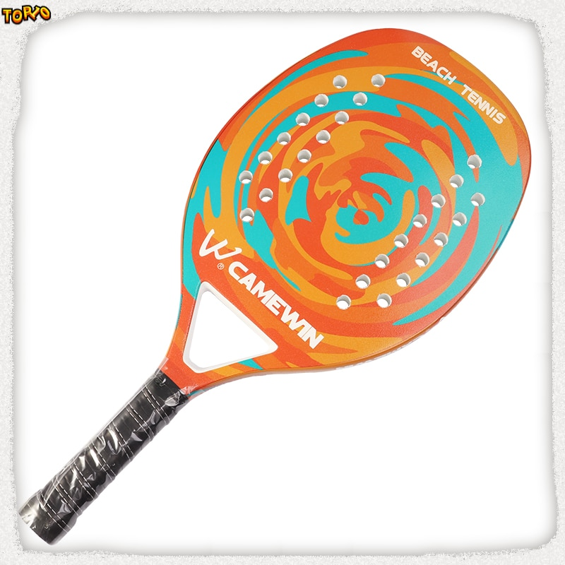 2021Adult Professional Full Carbon Beach Tennis Paddle Racket Soft EVA Face  Raqueta With Bag Unisex