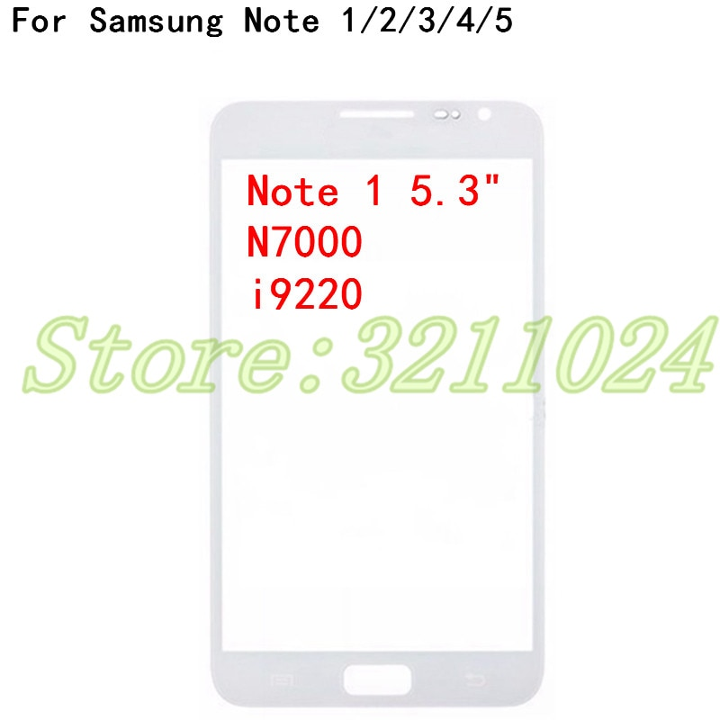 Для Samsung Galaxy Note 1 2 3 4 5 N7000 N7100 N900 N910 N920 Note 4 Note 5 передняя внешняя стеклянная крышка объектива сенсорный экран