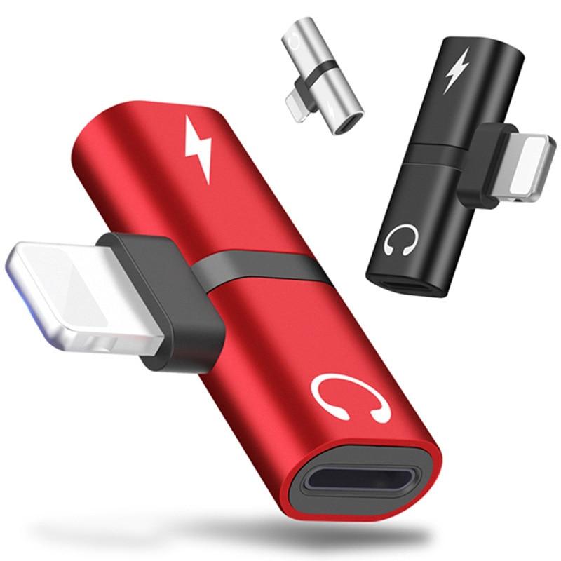 T-образные Наушники 2-в-1 с двумя портами для iPhone 7 8 Plus X XS аудио зарядное устройство диспенсер Аксессуары