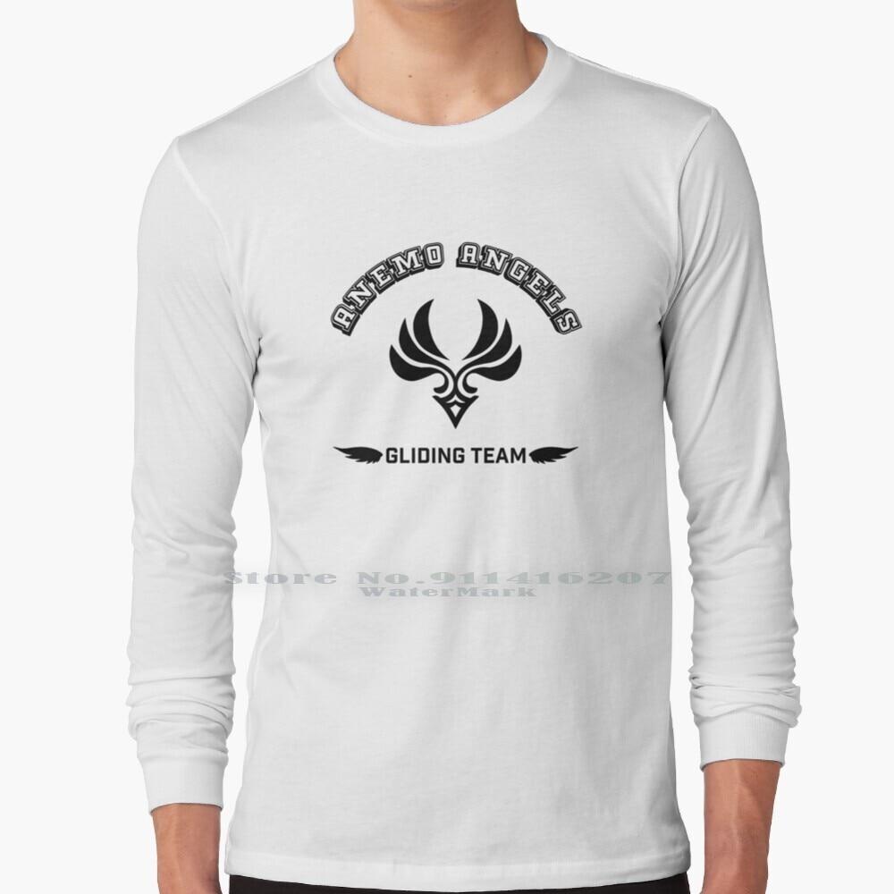 Anemo Angels Gliding Team ( Black Version ) Long Sleeve T Shirt Anemo Genshin Genshin Impact Mihoyo Traveller Lumine