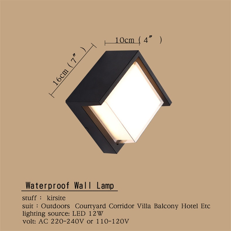 FAIRY Outdoor Wall Lamps Fixture Modern LED Sconce Waterproof Contemporary Creative Decorative For Corridor Balcony Courtyard enlarge