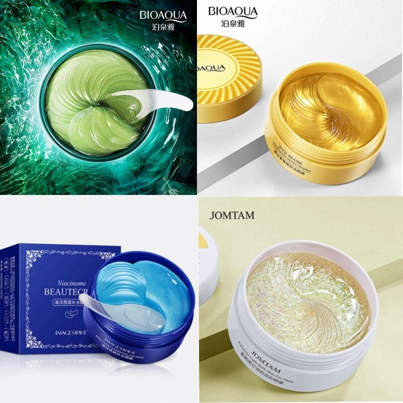 Hydrogel eye patches unter die augen gel patches für ödeme korea kollagen augenringe unter augen maske gel pads falten auge patch