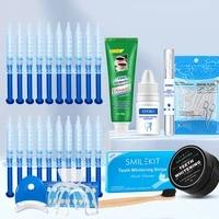 27pcs dental floss toothpicks whitening strips toothpaste powder pen essence gel toothbrush teeth whitening kit