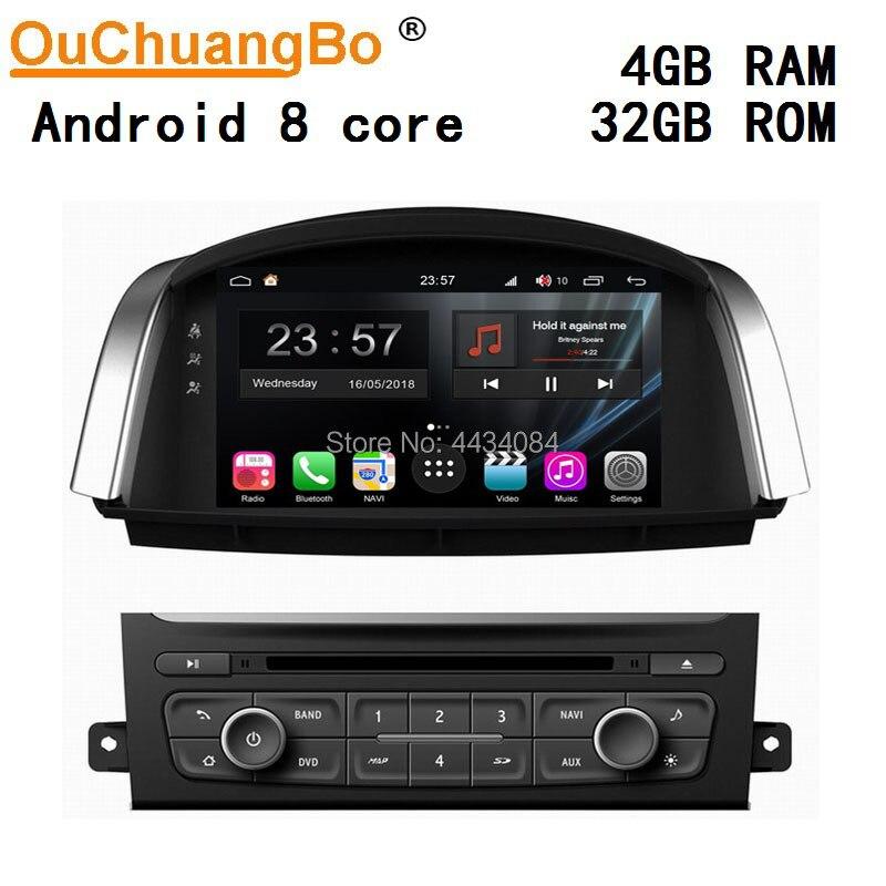 Ouchuangbo audio estéreo navi gps para Renault Koleos 2014 8 núcleos S300 plataforma 4 + 32 android 9,0 OS