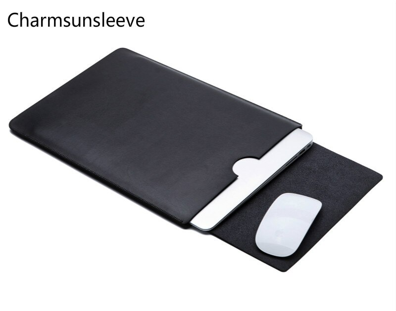 "Charmsunsleeve, para huawei c5 8 ""2018 manga ultra-fina tablet pc bolsa capa, capa de couro de microfibra"