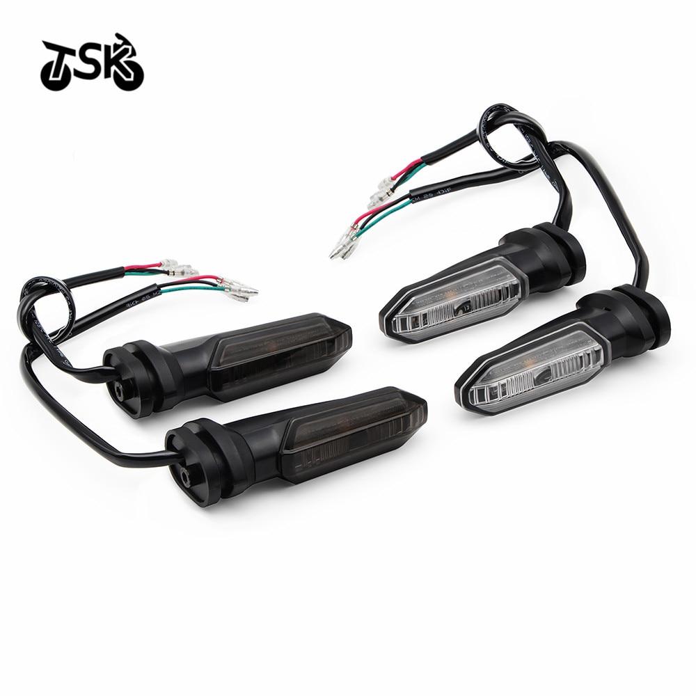 LED بدوره ضوء مؤشر الإشارة لهوندا CB500X CB400X CB500F CB400F CBR400R CBR500R الوامض مصباح موصل عالمي