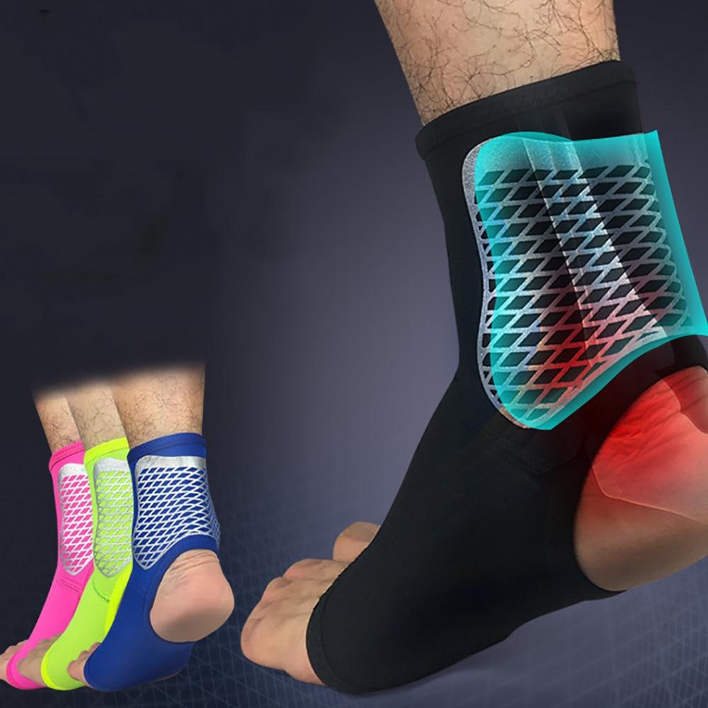 1 Pza al aire libre de Deportes de apoyo al tobillo fútbol baloncesto Bádminton deporte vendaje de protección elástico tobillo esprain Brace Guard Protect