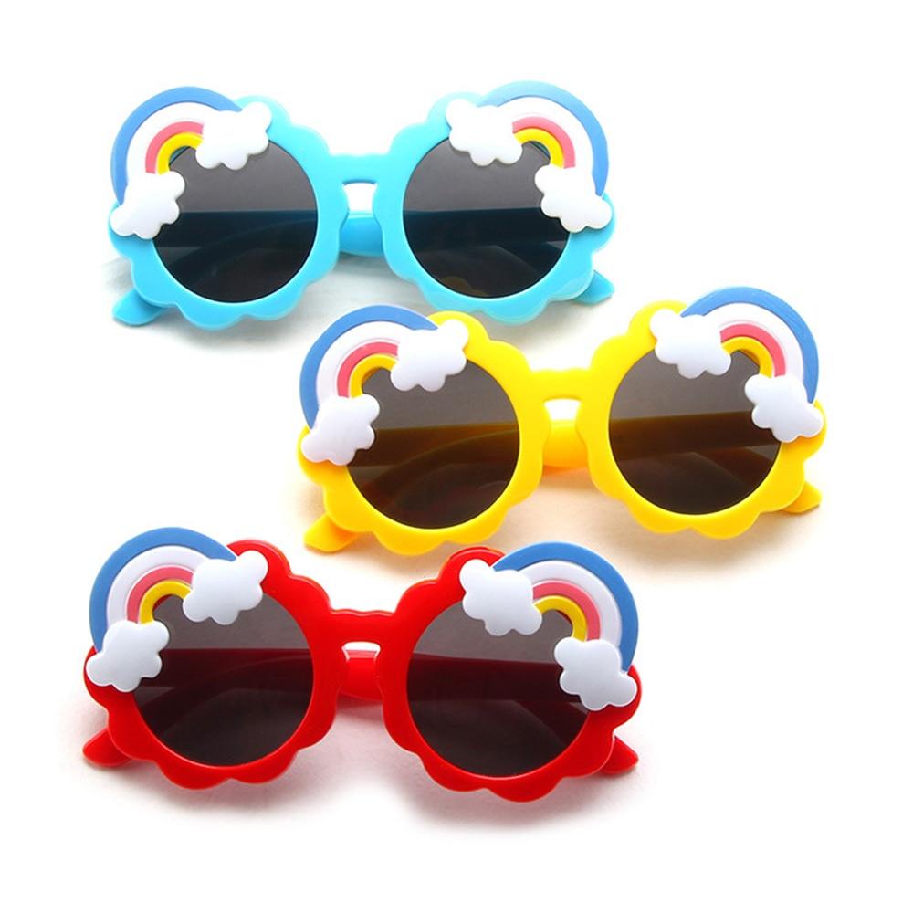 Children Cartoon Rainbow Round Frame Sunglasses Baby Girl Boy Goggles Toy Glasses Outdoor Kids Summe