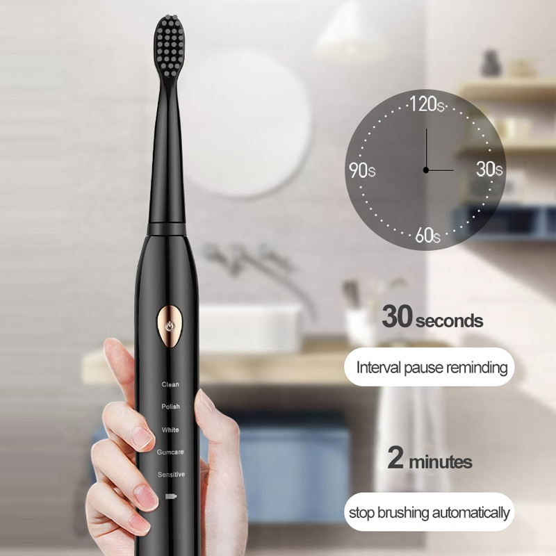 2021 NEW Sonic Toothbrush Adults Electric Toothbrush Rechargeable 4 8 Tooth Brush Heads Oral Nozzle For Toothbrush Dental Sound enlarge