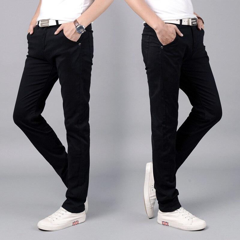 ICCLEK повседневные эластичные брюки мужские хлопковые Молодежные тонкие прямые брюки Джоггеры мужские брюки мужские джинсовые брюки мужски...
