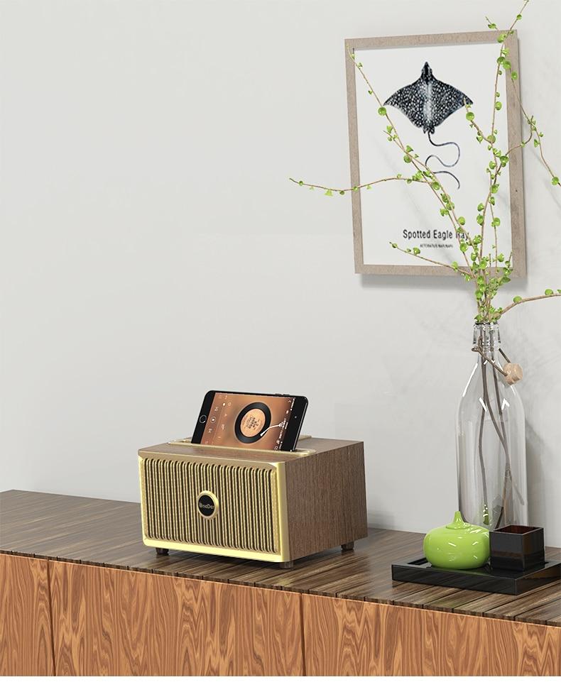 Wireless Bluetooth Speaker Retro Classic Wooden Super High Sound Quality Boom Box Home Speaker Stand Furniture Desktop Sound Box enlarge