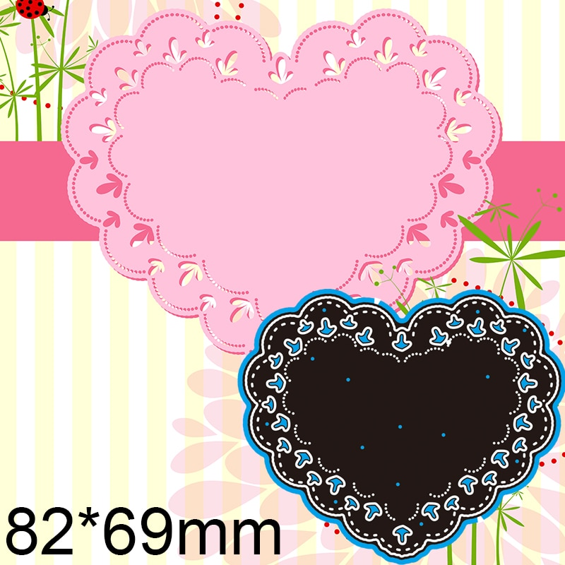 82*69mm Laciness Heart Cutting Dies DIY Scrap Booking Photo Album Embossing Paper Cards