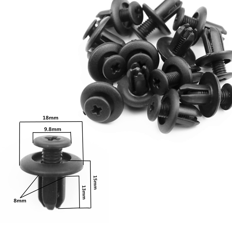8mm Car Bumper Mudguard Fastener Fixing Clips For Mazda CX-5 CX-7 CX-3 CX-9 mazda3 mazda6 mazda2 CX-5 ATENZA MX-5 RX-8 Axela
