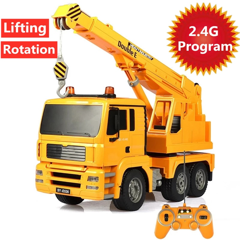 Multi-Functional Crane 2.4G 4CH Car With Programming Demo Light Rotation Intelligent Electric Engineering Vehicle Truck Toy Gift