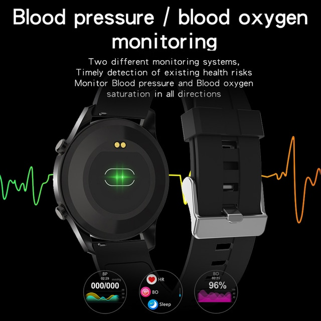 2021 New Smart Watches Men Full Touch Screen Sports Fitness Watch IP67 Waterproof Bluetooth For Android ios smartwatch Mens+box 2