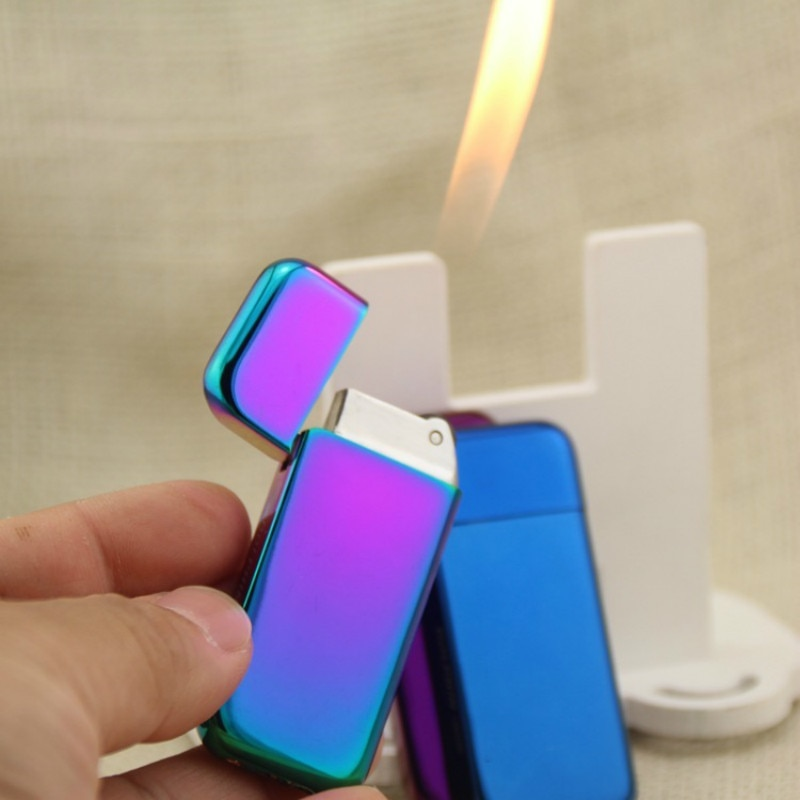Color Plating Extremely Thin Pearl Grinding Wheel Flame Lighter enlarge