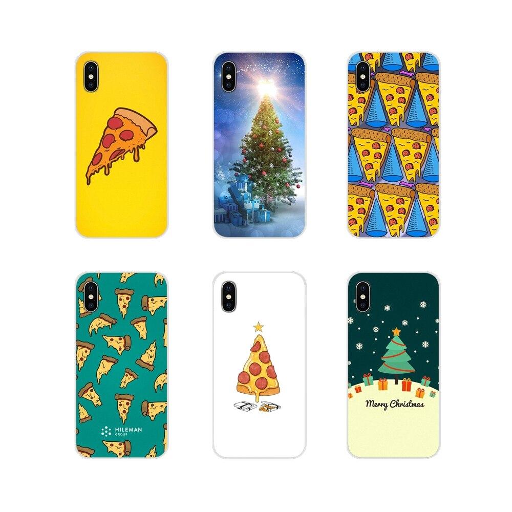 Para Samsung Galaxy J1 J2 J3 J4 J5 J6 J7 J8 Plus 2018 primer 2015 de 2016 de 2017 de la cáscara del teléfono móvil fundas Pizza árbol de Navidad regalos