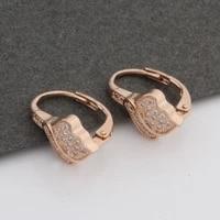 new trendy earrings flower luxury cute drop earrings micro wax inlay womens earring 585 rose gold wedding jewelry 2021 jewelry
