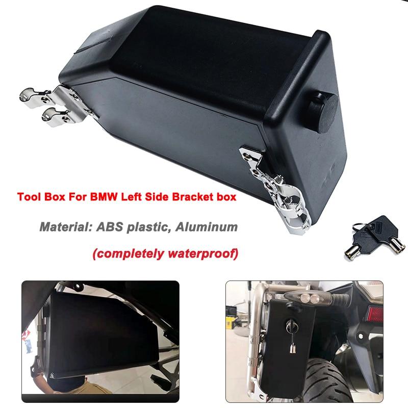 R1250GS R1200GS Caja impermeable decorativa para soporte lateral izquierdo 2004-2018 para BMW R1200GS LC Adventure R 1200 GS Caja de Herramientas