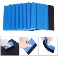 10pcs blue squeegee felt edge scraper car decals vinyl wrapping tint tools